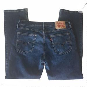 Levis 514 Stretch Straight Leg Jeans Size 33 x 30